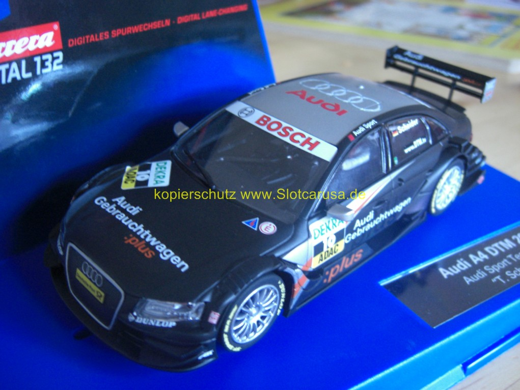 audi a4 dtm 2008 audi sport team abt timo scheider nr 10 slotcarusa. Black Bedroom Furniture Sets. Home Design Ideas