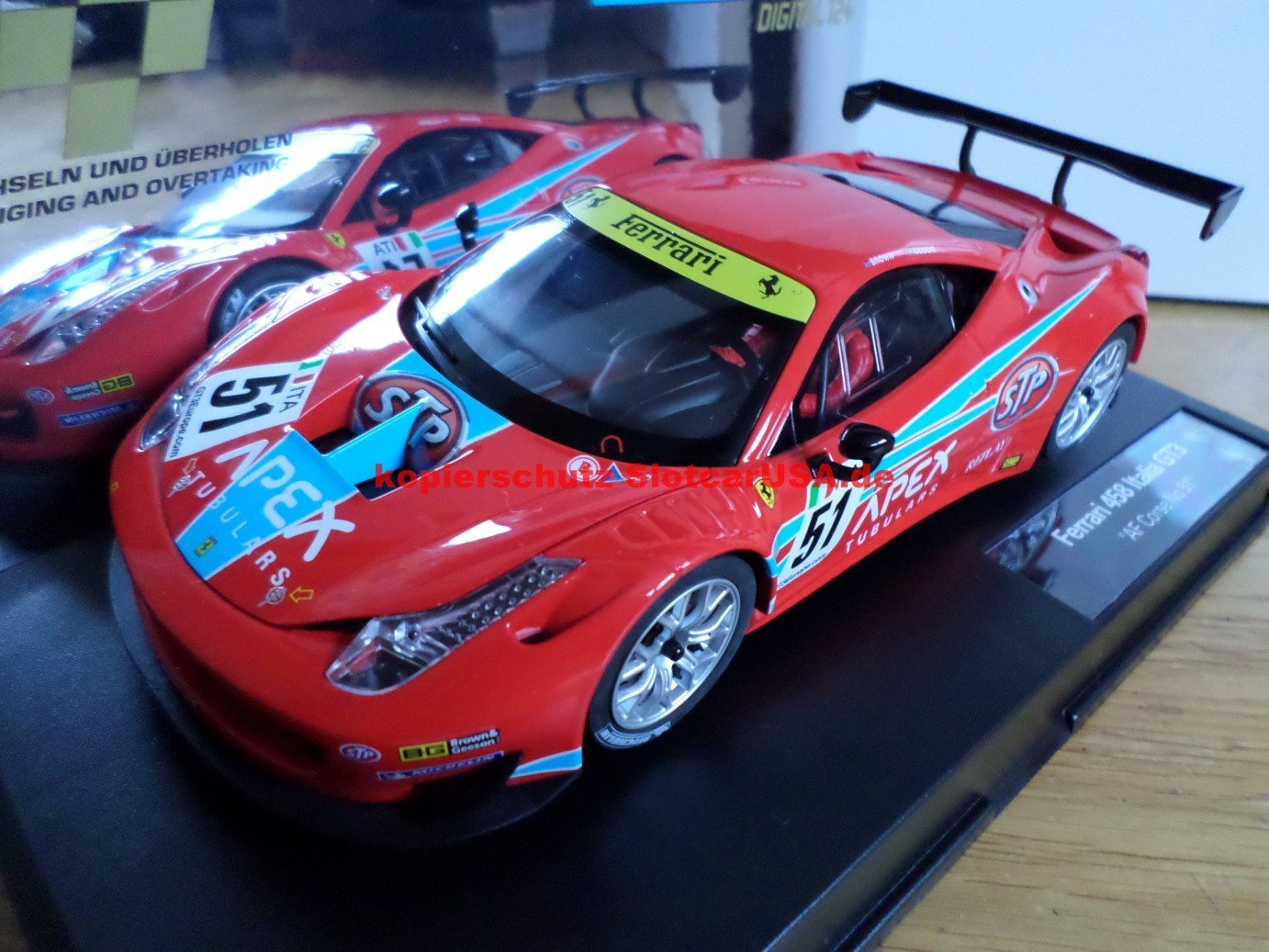 ferrari 458 italia gt3 af corse nr 51 slotcarusa. Black Bedroom Furniture Sets. Home Design Ideas