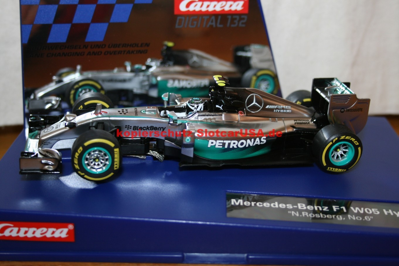 Mercedes benz f1 w05 hybrid nico rosberg nr 6 slotcarusa for Mercedes benz f1 shop