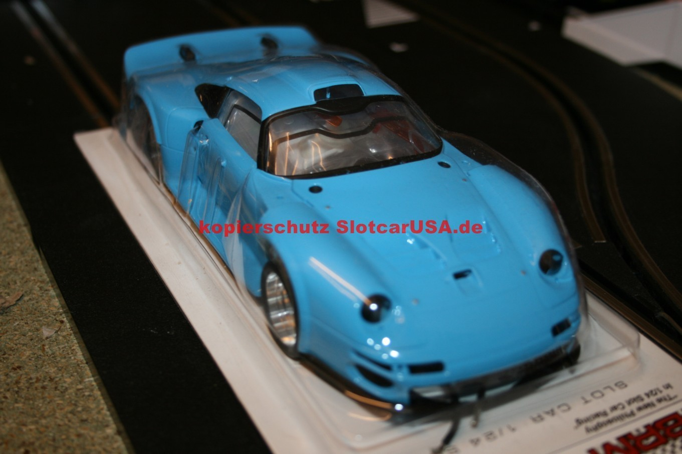 porsche 911 gt1 porsche light blue edition pre painted kit s l e slotcarusa. Black Bedroom Furniture Sets. Home Design Ideas