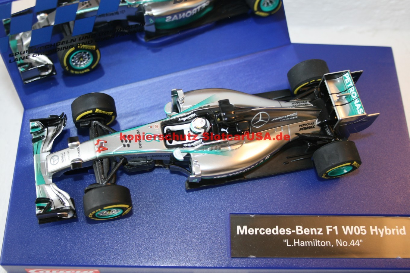 Mercedes benz f1 w05 hybrid lewis hamilton nr 44 slotcarusa for Mercedes benz f1 shop
