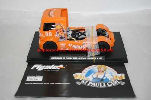 Fly Slot 202311A Mercedes Benz Truck St Pauli Girl Special Edition Anime orange Nr. 88