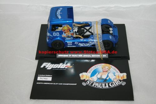 Fly Slot 202311B Mercedes Benz Truck St Pauli Girl Special Edition Anime Blue Nr. 88