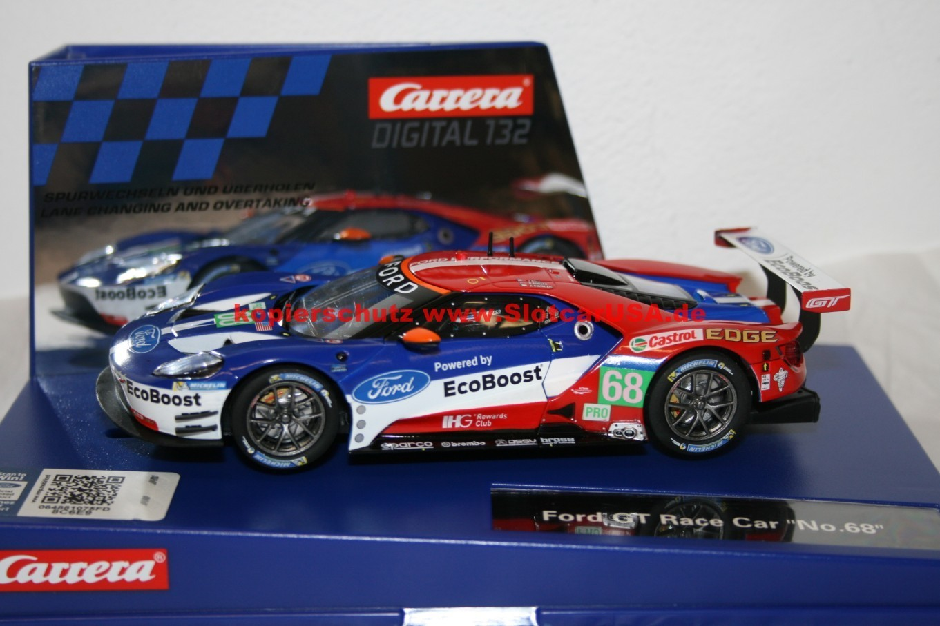 carrera digital 132 30771 ford gt race car ecoboost nr 68. Black Bedroom Furniture Sets. Home Design Ideas