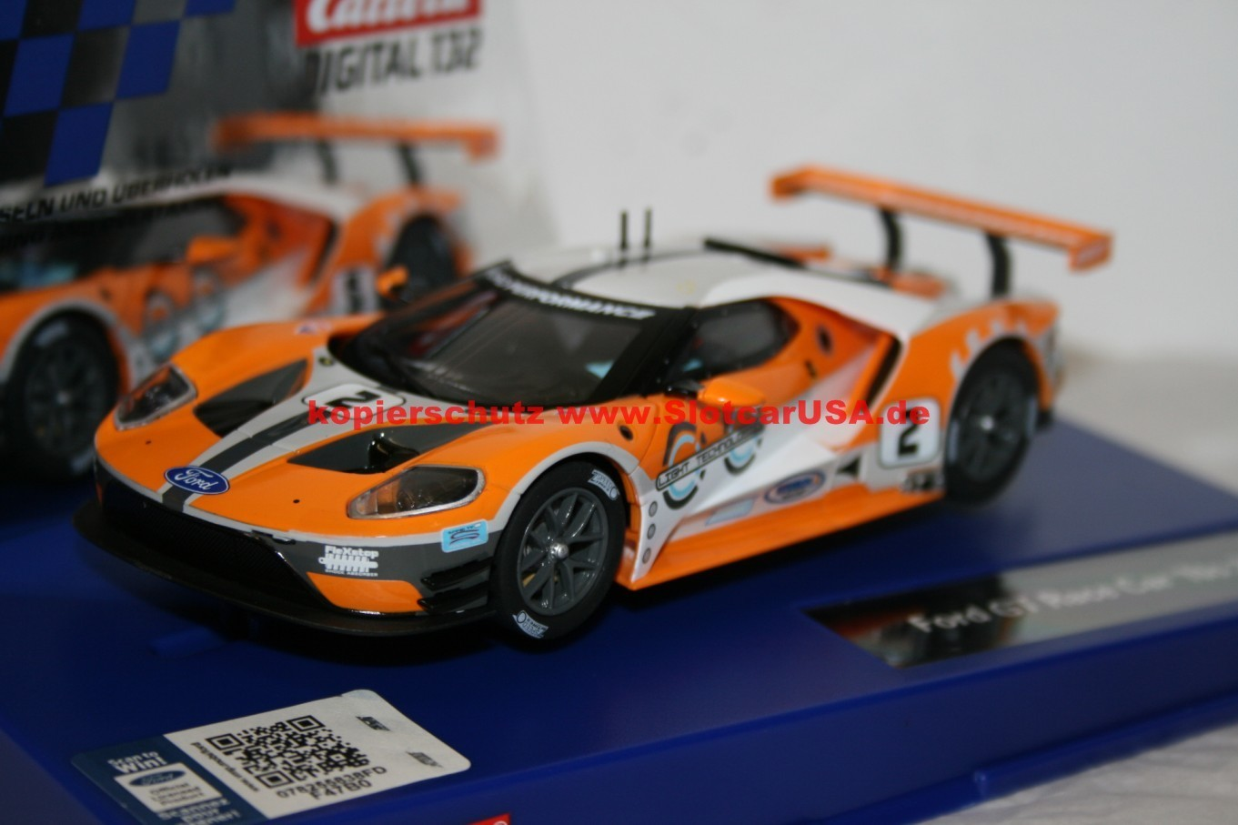 carrera digital 132 30786 ford gt race car nr 02 slotcarusa. Black Bedroom Furniture Sets. Home Design Ideas