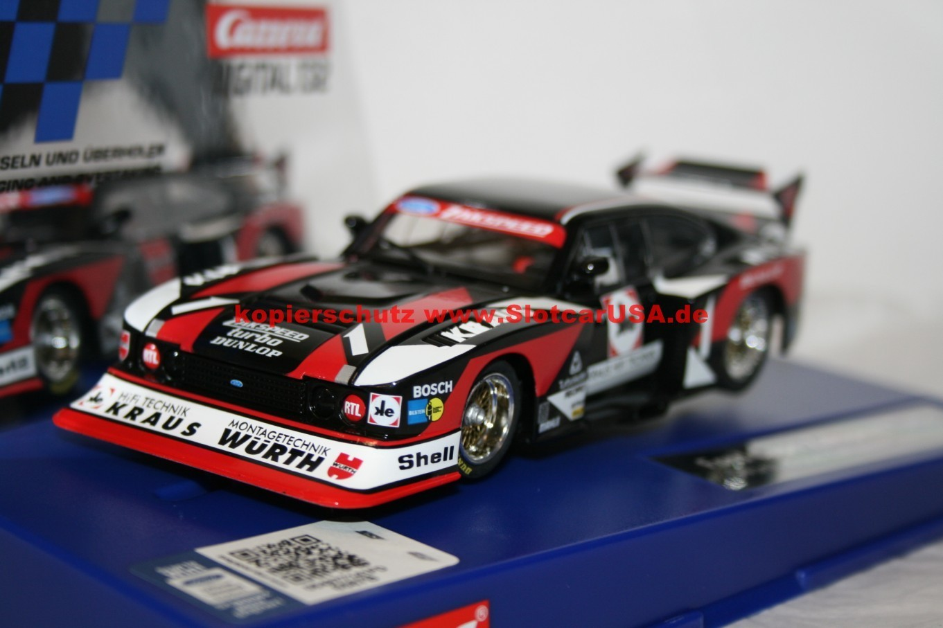 Nummer 2 Carrera Digital 124 Ford Capri Turbo W/ürth-Zakspeed Team