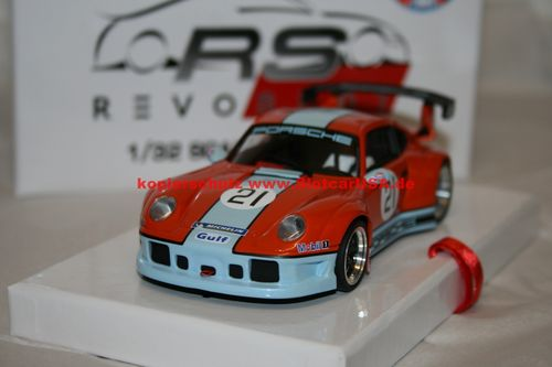 RevoSlot RS0014 Porsche 911 GT2 Special Gulf Edition - Pearl Orange Nr. 21