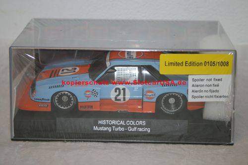 Sideways HC05 Ford Mustang Turbo Gulf Historical Color Limited Edition 1008