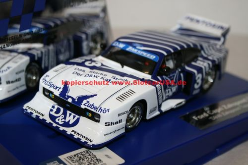 Carrera Digital 132 30887 Ford Capri Zakspeed Turbo D&W Zakspeed Team Nr. 3