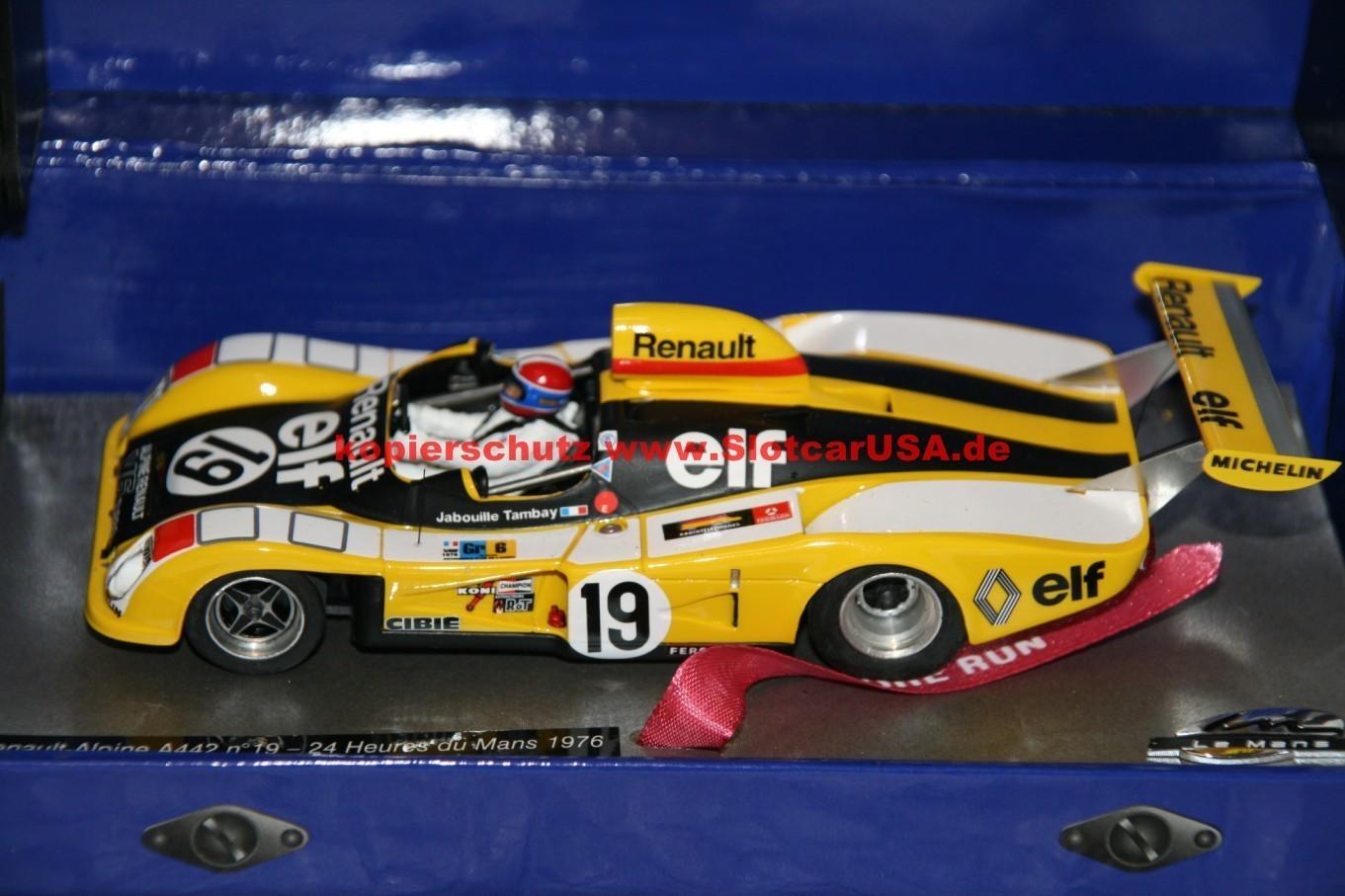 Le Mans Miniatures Renault Alpine A442 #1-1976 Le Mans 1//32 Slot Car 132076M