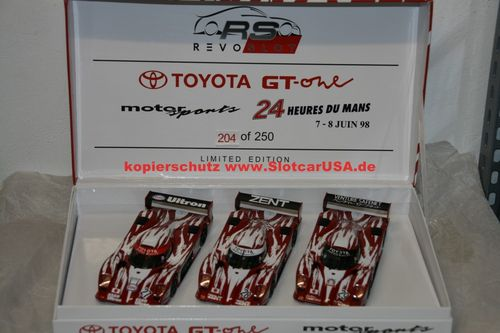 RevoSlot RS0055 Slotcar 1/32 Toyota GT-One LM 1998 Triple Pack #27 - #28 - #29