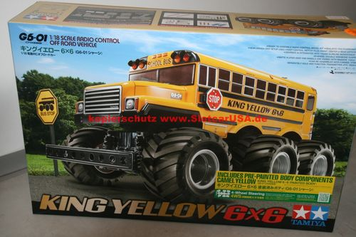 Tamiya 47376 1/18 RC King Yellow 6x6 Painted Body