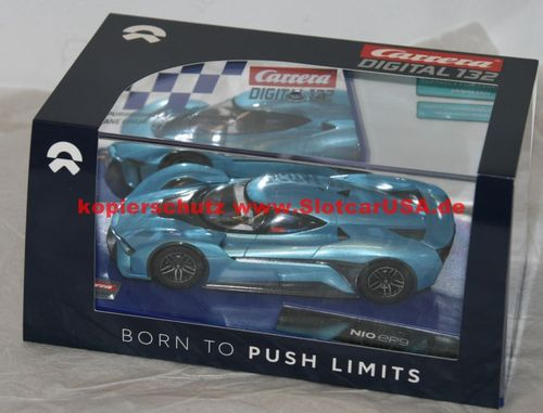 Carrera Digital 132 30296 NIO EP9 BORN TO PUSH Limits hellblau